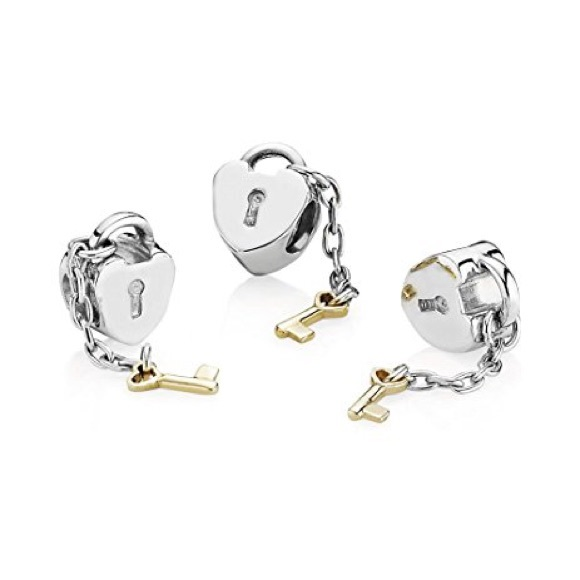 88f5f57f9 Pandora Jewelry   Twotone Key To My Heart Charm Retired   Poshmark